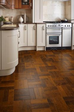 Spanish Cherry Parquet floor in kitchen